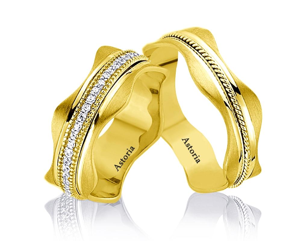 Verighete din aur,verighete modele nou ,verighete astoria